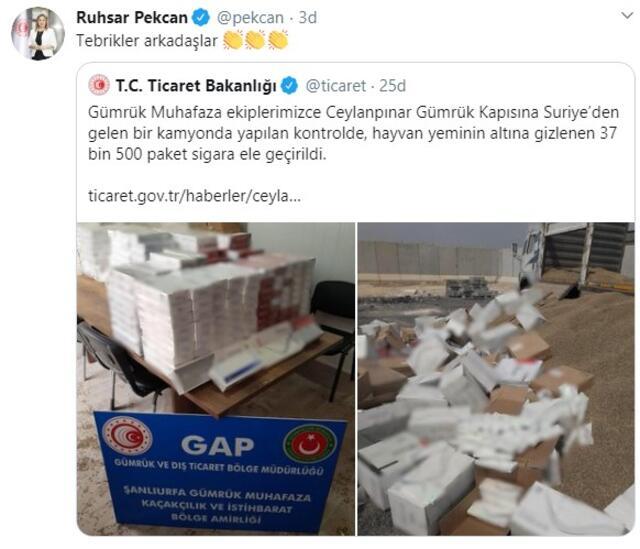 37 bin 500 paket sigara ele geçirildi Bakan tebrik etti